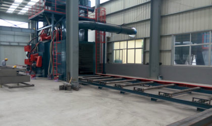 H Beam Sandblast machine